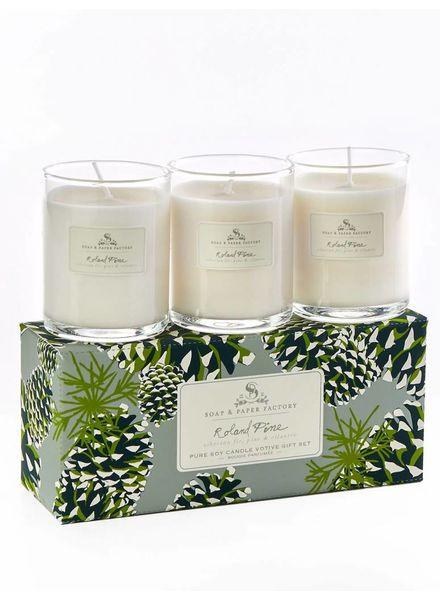 Soap & Paper Factory Roland Pine Votive Trio Gift Set