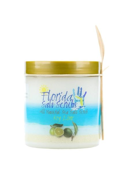 Florida Salt Scrubs Medium Key Lime Salt Scrub