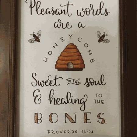 Pleasant Words Print without frame