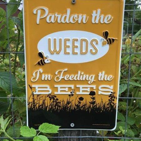 Pardon the Weeds Sign