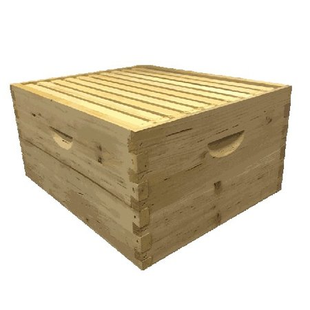 10 Frame Cypress Deep Assembled Unfinished Hive Combo w/Frames & Foundation