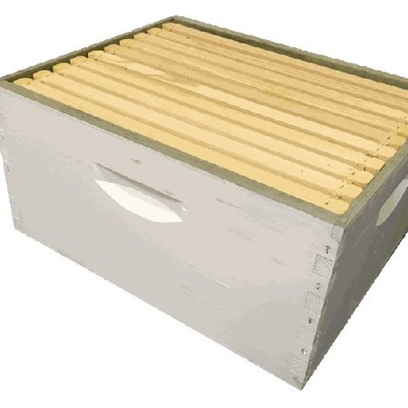 10 Frame Deep Assembled Treated and Painted White Hive Combo w/Frames & Foundation