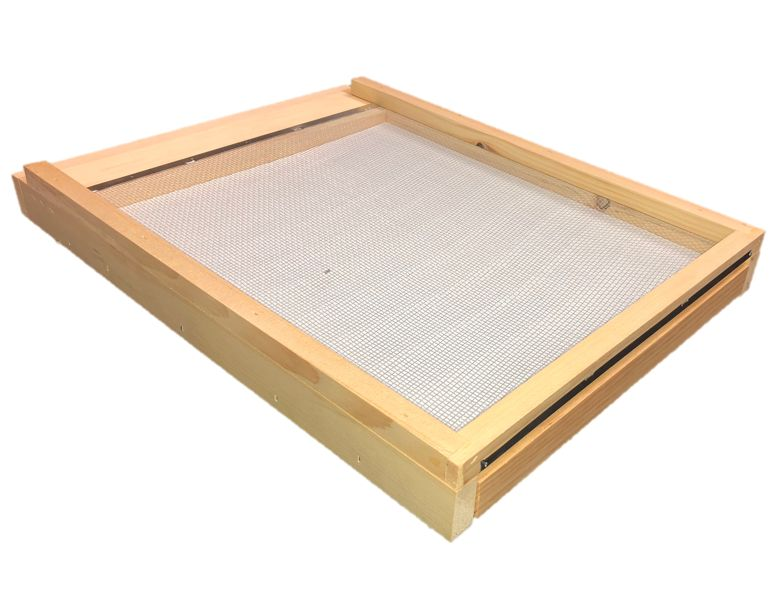 8 Frame Unfinished Varroa Screen Bottom Board w/ Drawer and ER