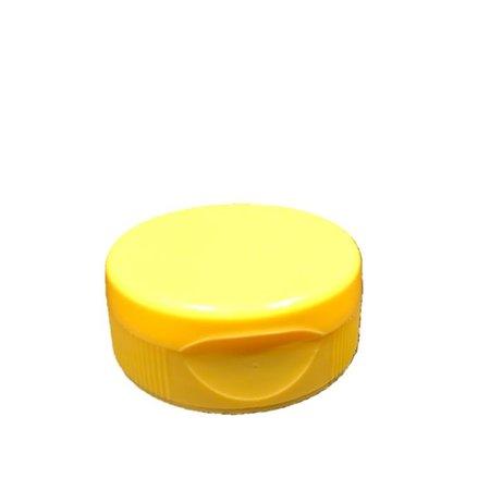 Yellow flip-top lid for plastic squeeze bottles