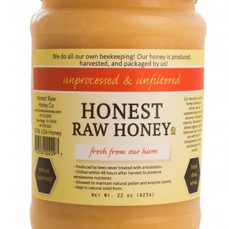 22 oz Honest Raw Honey