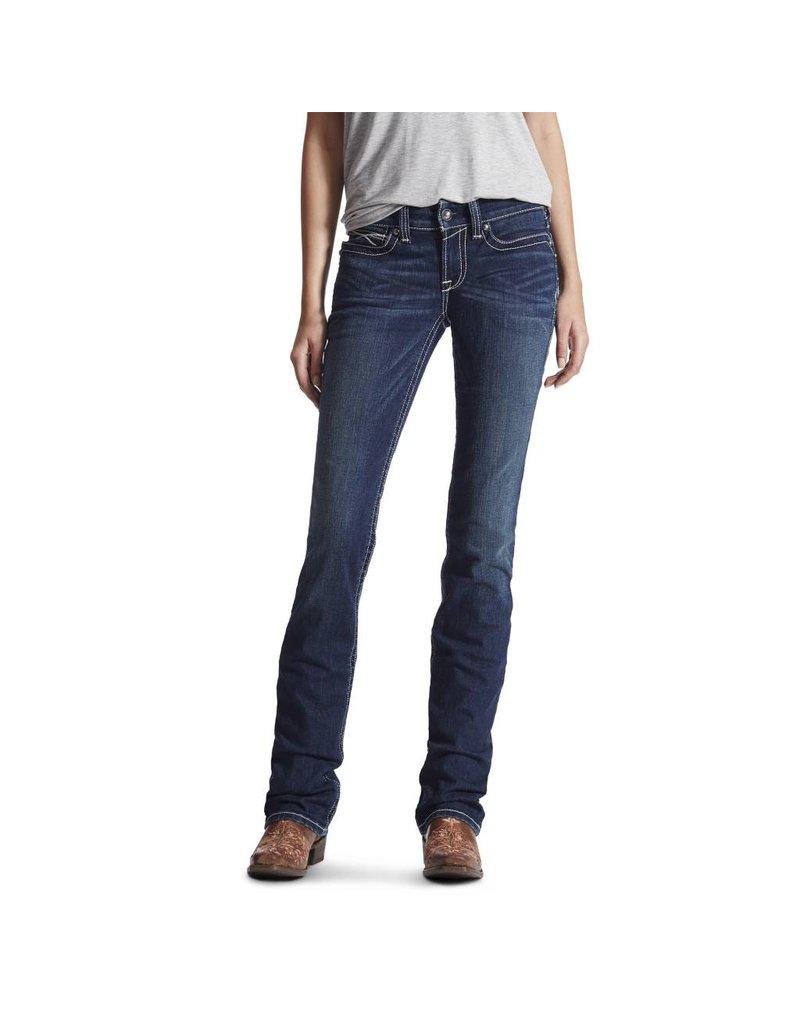Ariat Ariat R.E.A.L. Mid Rise Icon Stackable Straight Leg Ocean Jean