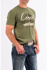 Cinch Cinch Brand Olive Cotton-Poly Basic Tee