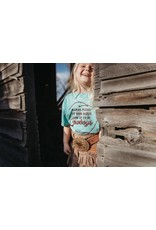 The Coyote Cowgirl Let Your Babies Be Cowboys Blue Youth Tee