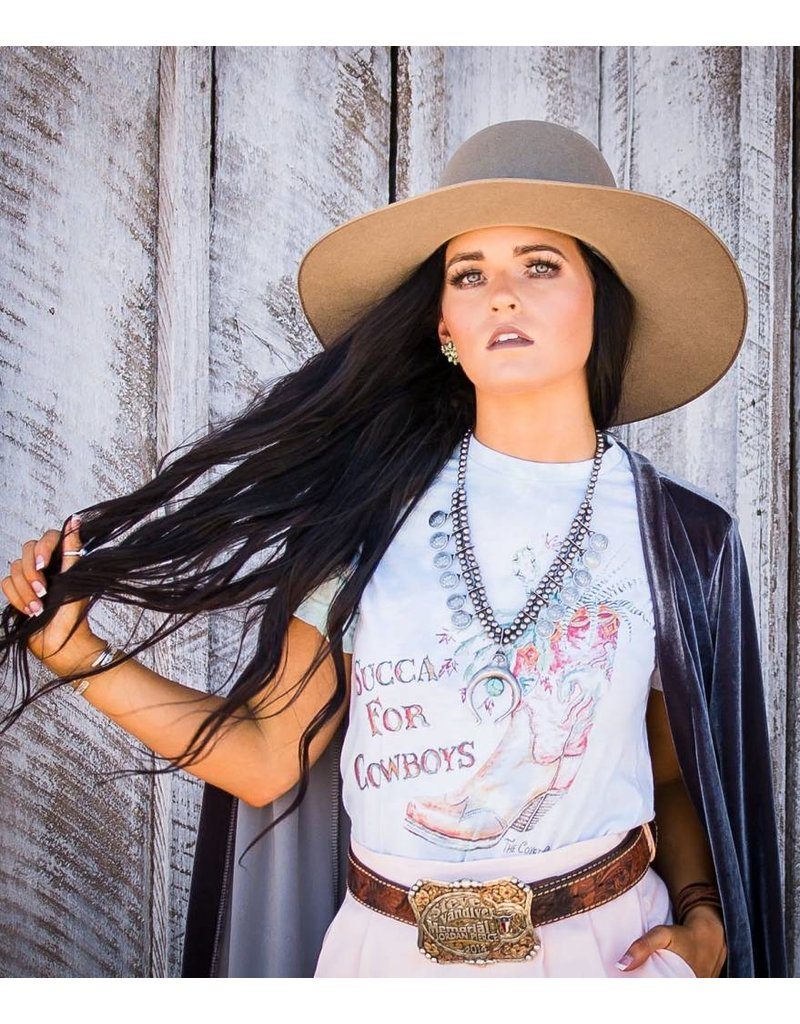 The Coyote Cowgirl Succa For Cowboys Tie Dye Tee