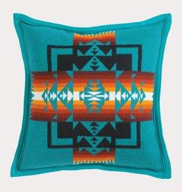 Pendleton Woolen Mills Chief Joseph Turquoise Pillow