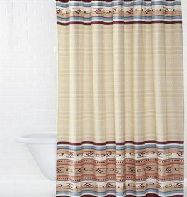Pendleton Woolen Mills Embroidered Ivory Chimayo Shower Curtain