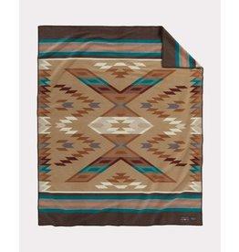 Pendleton Woolen Mills Brown Roselyn Begay Weavers Blanket