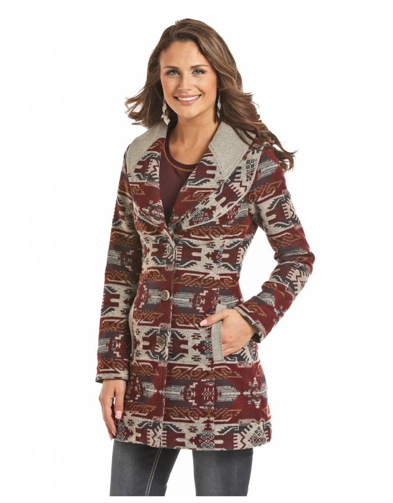 Powder River Outfitters Powder River Aztec Jacquard Wool Coat