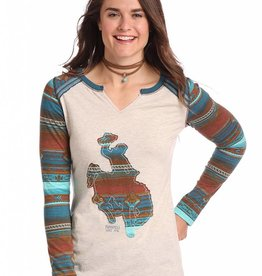 Panhandle Slim Panhandle Slim Long Sleeve Knit Brown Serape Bronc Top