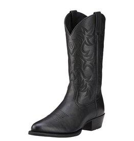 Ariat Ariat Men's Black Deertan Heritage R Toe Western Boots