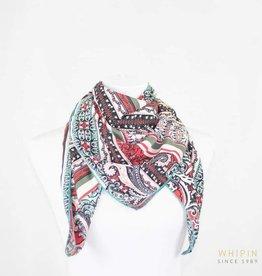 Whipin Wild Rags Red/Black/White Paisley Print Wild Rag