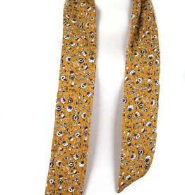 Whipin Wild Rags Mae Mustard Floral Twilly