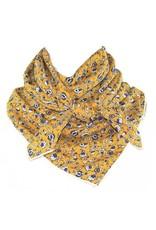 Whipin Wild Rags Mae Mustard Floral Wild Rag