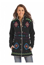 Powder River Outfitters Powder River Black Aztec Embroidered Fleece Jacket