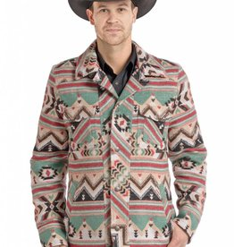 Powder River Outfitters Powder River Tan Aztec Commander Wool Jacket