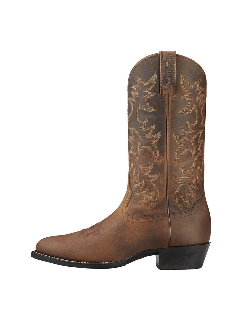 Ariat Ariat Men's Distressed Brown Heritage R Toe Western Boots