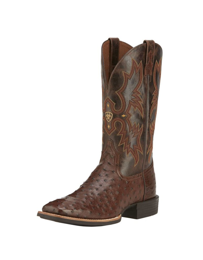 Ariat Ariat Men's Antique Tabac Quantum Classic Full Quill Ostrich Boots