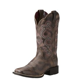 Ariat Ariat Women's Tack Room Chocolate Quickdraw Boots