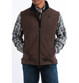 Cinch Cinch Men's Brown Textured Bonded Vest
