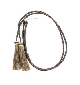 M&F Western Products Brown Leather Stampede String with Horsehair