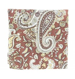 M&F Western Products Brown Paisley 100% Silk Wild Rag