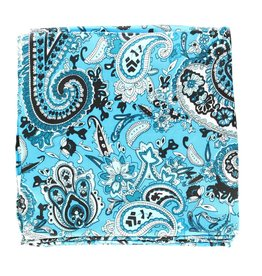 M&F Western Products Turquoise Paisley 100% Silk Wild Rag