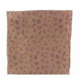 M&F Western Products Brown Brand Iron 100% Silk Wild Rag