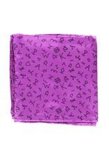 M&F Western Products Purple Brand Iron 100% Silk Wild Rag