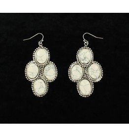 Blazin Roxx White Stone Dangle Earrings