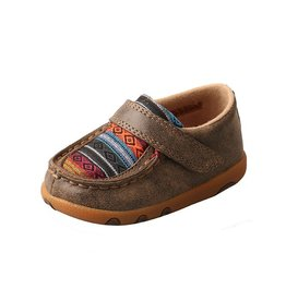 Twisted X Twisted X Infant Bomber Multi Serape Driving Moccasins