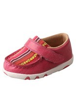 Twisted X Twisted X Infant Pink Multi Canvas Driving Moccasins