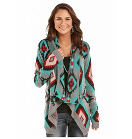 Rock & Roll Cowgirl Rock & Roll Cowgirl Aztec Design Sweater Cardigan