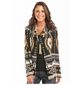 Rock & Roll Cowgirl Rock & Roll Cowgirl White & Camel Aztec Cardigan