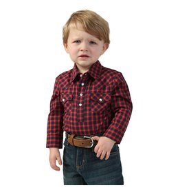 Wrangler Wrangler® Baby Red Plaid Long Sleeve Bodysuit