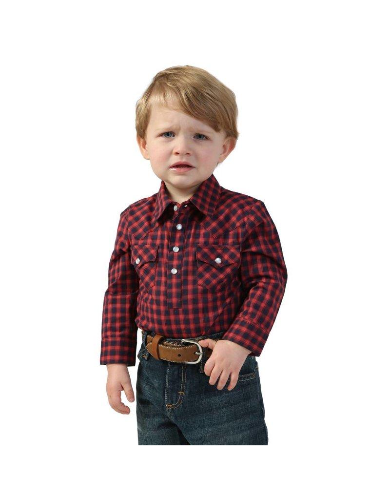 Wrangler Wrangler® Baby Red Plaid Long Sleeve Bodysuit