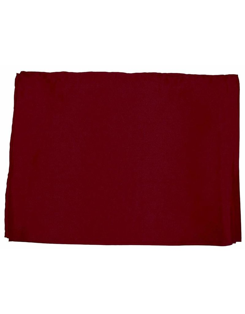 Wyoming Traders Solid Red 100% Silk Scarf