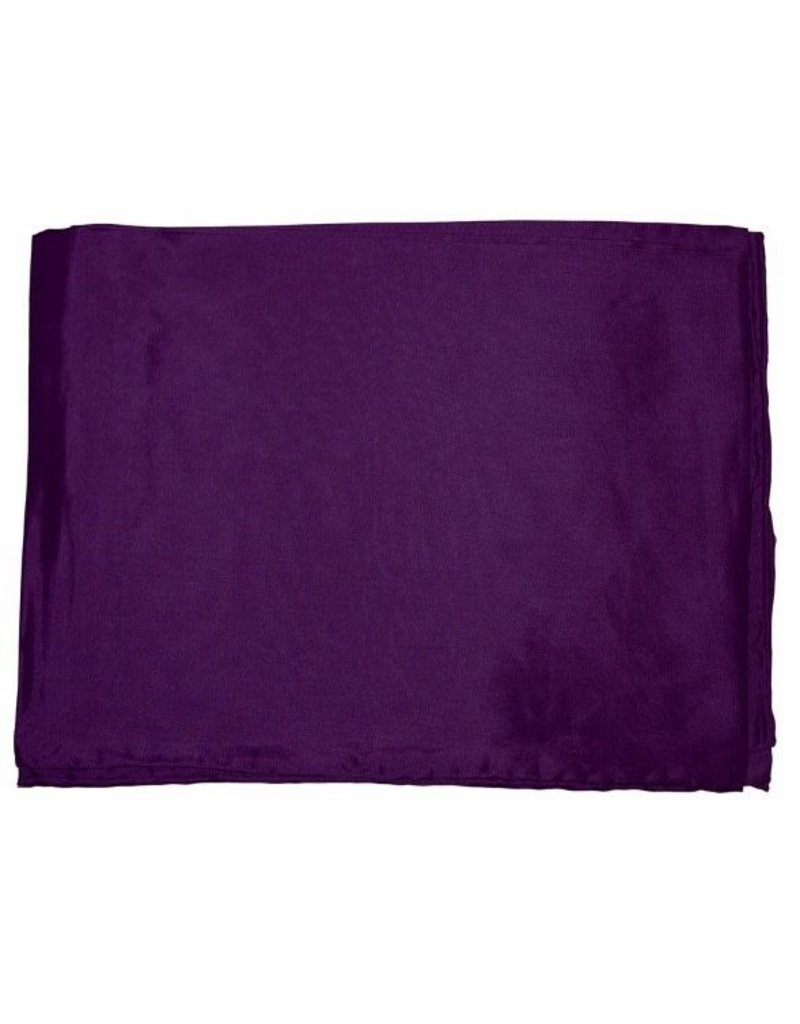 Wyoming Traders Solid Plum 100% Silk Scarf