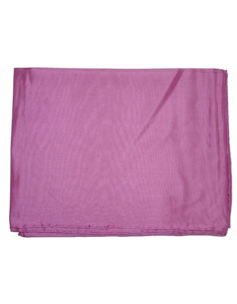 Wyoming Traders Solid Pink 100% Silk Scarf
