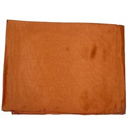 Wyoming Traders Solid Copper 100% Silk Scarf