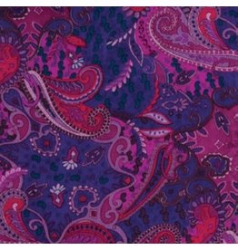 Wyoming Traders Paisley Pomegranate 100% Silk Scarf