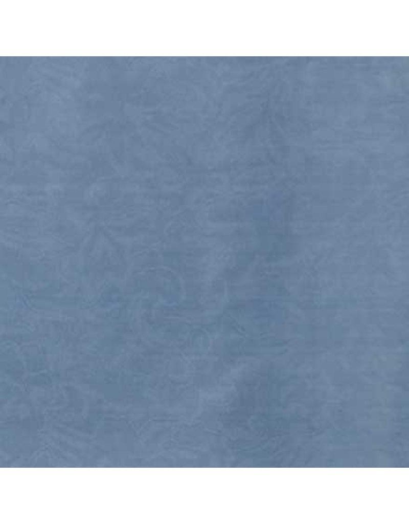 Wyoming Traders Jacquard Slate Blue 100% Silk Scarf