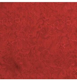Wyoming Traders Jacquard Red 100% Silk Scarf