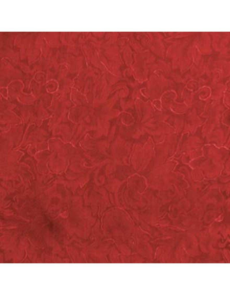 Wyoming Traders Jacquard Red 100% Silk Scarf