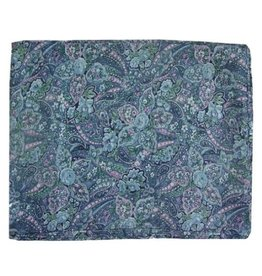 Wyoming Traders Calico Blue Paisley 100% Silk Scarf