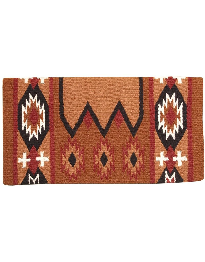 Mustang Laredo 100% New Zealand Rust Wool Blanket